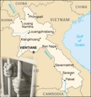 laos prison map