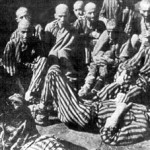 Prisoners in the ghetto and concentration camp of Terezin, Czech Republic, during World War Two.