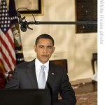President Barack Obama speaking to the nation on his stimulus package. Via White House